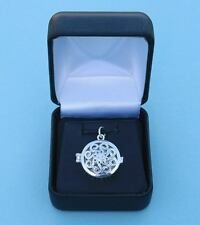 New Classic Swirl Design Sterling Silver Working Compass Locket Pendant