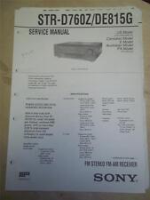 Sony Service Manual~STR-D760Z/DE815G Receiver~Original~Repair