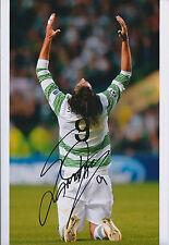 Georgios SAMARAS SIGNED Autograph Photo AFTAL COA CELTIC SPL Goal Celebration