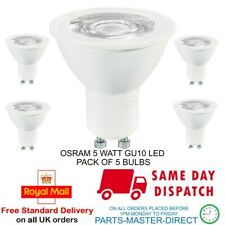 OSRAM 5 WATT COOL WHITE GU10 LED LIGHT BULB LAMP 4000K A+ ENERGY RATED - 5 PACK