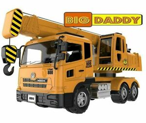 Big Daddy Extra Large Crane Toy Truck Extendable Arms & Lever to Lift Crane Arm