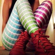 Quality Color Chart Woman's Teenager stretchy Funky sexy dance yoga fun Leggings
