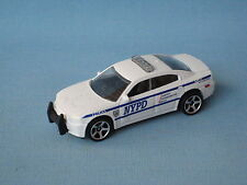 Matchbox Dodge Charger NYPD Police Car White 75mm Toy Model UB