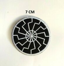 Black Sun Symbol Iron On Sew On Patch Jacket Jeans Leather Biker Rockers New #20