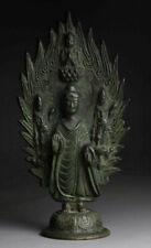 Antiker Buddha China Inschrift Bronze Qing Dynastie 24 cm alt antique