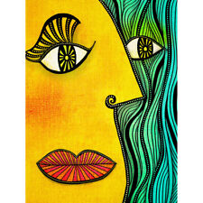 Abstract Picasso Style Face Painting Canvas Wall Art Print Poster