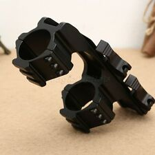 Tactical Offset 30mm Scope Mount  w/ 1'' Inserts Picatinny Weaver QD Cam Locks