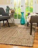 Gideon Thick Hand Woven Jute Area Throw Rug Carpet
