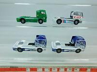 AU985-0,5# 4x Wiking H0 Renntruck/Zugmaschine Mercedes: Speedline+BP+DEA, NEUW