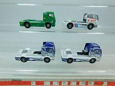 au985-0, 5 #4x WIKING H0 Camión De Carreras/UNIDAD TRACTORA MERCEDES: