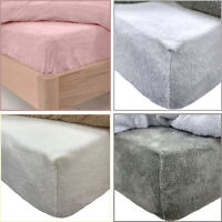 Fleece Fitted Sheet Soft Teddy Bear Sherpa Fluffy Warm Cosy Fitted Bed Sheet