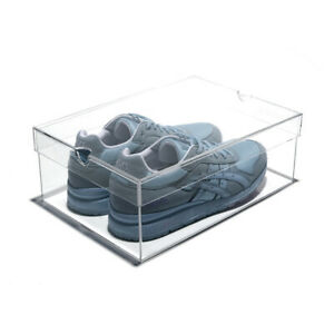 NEW! OnDisplay LUXURY CLEAR ACRYLIC SHOEBOX - DESIGNER LUCITE SHOE STORAGE BOX
