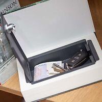 Caja Fuerte con Forma de Libro de Verdad Candado Metal Portátil Seguridad Joyas