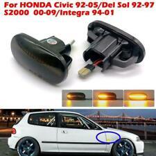 Smoke Lens Dynamic LED Side Marker Turn Signal Lights For HONDA Civic 1992-2005