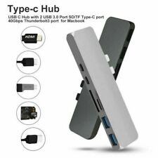 7 in 1 USB C Hub USB 3.1 Type C Adapter Dock Card Reader 4K HDMI For MacBook Pro