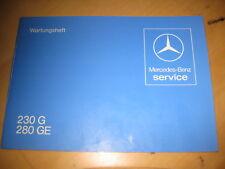 Mercedes Benz Wartungsheft Scheckheft Typ 460 - 230 G - 280 G - 1979 - neu - NOS