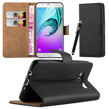 Flip Leather Wallet Book Case Cover Pouch for Various Mobile Phone Screen Guard Samsung Galaxy S5 Black