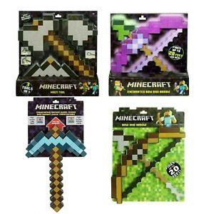 Minecraft Games Transforming Diamond Sword Pickaxe Bow Arrow Hoe Shovel Axe Toy