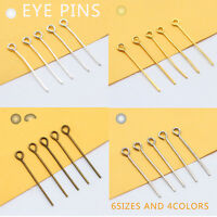 16/18/24/26/35mm Bronze/gold/silver plated Metal eyepins eye pins findings craft