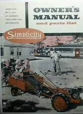 Simplicity V L-1 F Wards Garden Tractor & Implement Owner & Parts Manual 64p