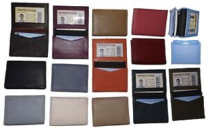 Business card case. Women's Men's Leather ID/credit card holder, Expending case