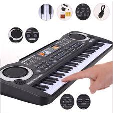 Pianola musicale elettronica bambini 61 tasti microfono registrazione karaoke
