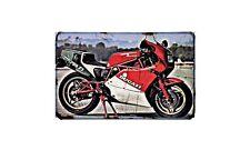 Ducati 750 F1 Desmo Motorbike Sign Metal Retro Aged Aluminium Bike