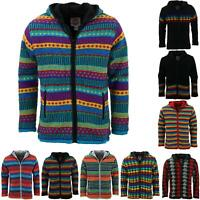 Wool Knit Hooded Cardigan Jacket Ministry of Colour Hoodie Overcoat Cardigan