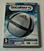 ANCIEN JEU DISQUE DVD PC CD ROM ORDINATEUR L ENTRAINEUR 5 MANAGER