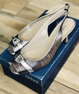 Ladies Womens Shoes LOTUS MARIANNA Black,Pewter Heels Current RRP £59.99