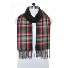 Women Scarf Winter Warm Shawl Wrap Plaid Pashmina Checked Blanket Scarf Wool Men