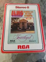Elvis Recorded live on stage in Memphis 8 track