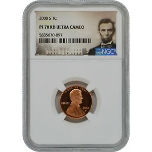 2008-S Lincoln Penny Proof Coin NGC PF70 Ultra Cameo