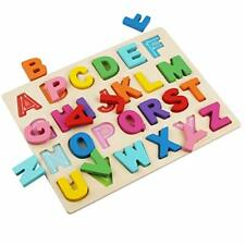 Wooden Alphabet Puzzles, Abc Puzzle Board for Toddlers 3-5 Years Old, Preschool