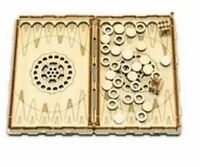 Madera Figuras - Backgammon Corto Juego de Mesa
