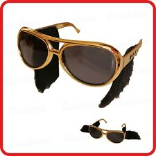 ELVIS PRESLEY ROCK & ROLL ROCKER SUNGLASSES GLASSES WITH SIDEBURNS-COSTUME-PARTY