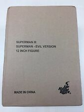 Hot Toys MMS 207 Superman (Evil Version) Christopher Reeve 12 inch Figure OPEN