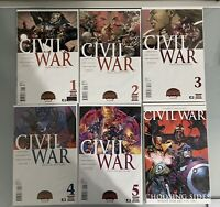 Civil War 1-5 Marvel 2015 Complete Set Run Lot 1-5 + One Shot VF/NM