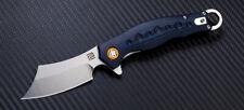 Couteau Artisan Corsair Blue Lame Acier D2 Manche Blue G-10 ATZ1828PBUC