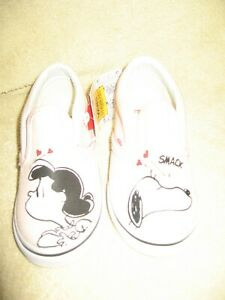 Vans X Peanuts  Classic Slip On Trainers - Smack/Pea UK Size 6.5 EUR 23.5