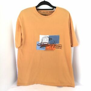Brooklyn XPress Jeans Co. Multi Fabric Applique Graphic Embroidered Tee Shirt