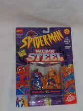 1994 Web of Steel Spiderman vs Hobgoblin Diecast Metal Figure Set MOC Sealed