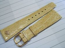 VINTAGE NOS MAURICE LACROIX 20X14 MM BEIGE LEATHER BAND STRAP              *5380