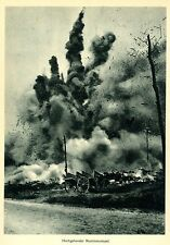 1918 lucha terreno * voIaduras iglesia de frescault * dom le Mesnil * ww1