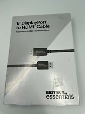 Best Buy essentials 6' foot DisplayPort to HDMI Cable for PC Mac laptop