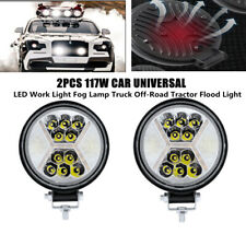 2PCS 117W 50000H LED Work Light Fog Lamp Car Truck Off-Road Tractor Flood Lights
