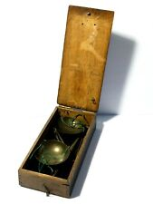 More details for  antique georgian apothecary scales in original oak box #cb10