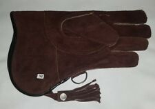 New Falconry Glove Medium Size Suede Leather Double Layer 12 Inches Long Brown