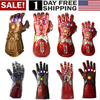 US! Thanos Infinity Gauntlet LED Light Gloves Iron Man Tony Stark LED Gloves Hot