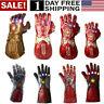 US! Thanos Infinity Gauntlet LED Light Gloves Iron Man Tony Stark LED Gloves Hot